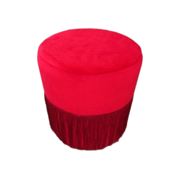 ROUND STOOL COLOR LM073-12 RED FABRIC