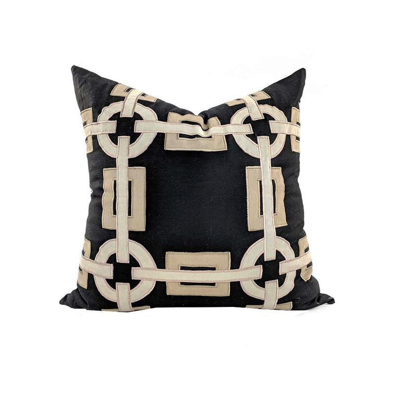 CUSHION COVER  BLACK 52X52