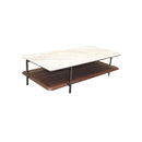 COFFEE TABLE JAZZ WHITE MARBLE TOP