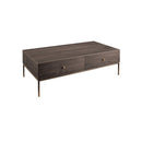 COFFEE TABLE WALNUT VENEER BODY WITH 2 SOFT CLOSE DRAWERS