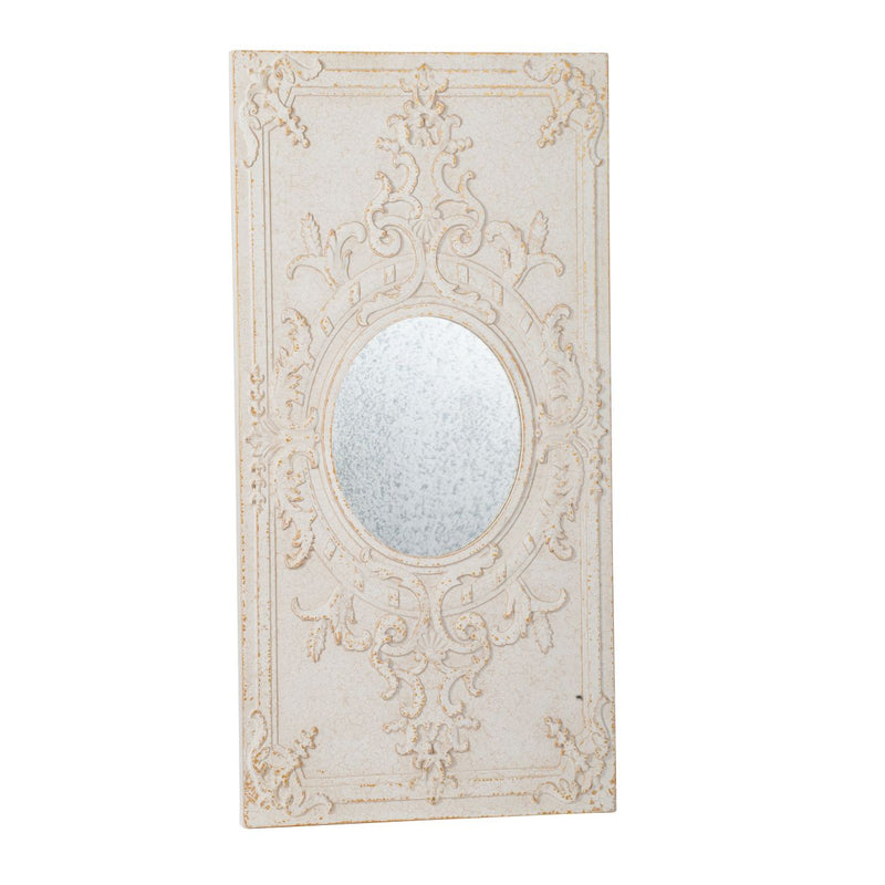 ANTIQUE WHITE WALL DECOR WITH MIRROR