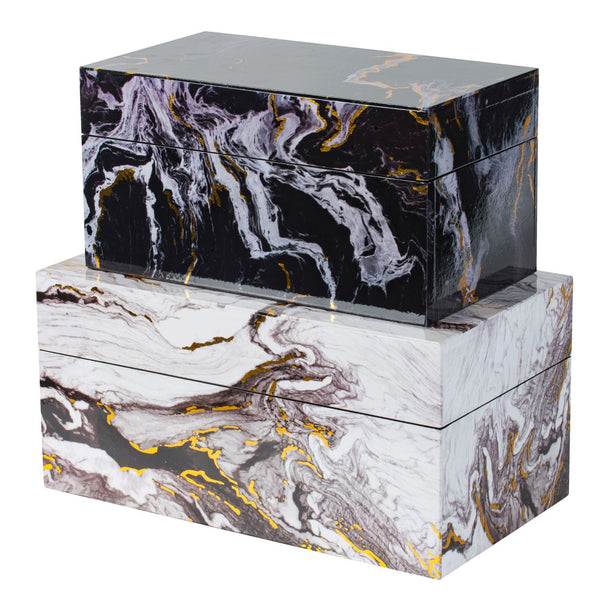 S/2 DECORATIVE BOXES