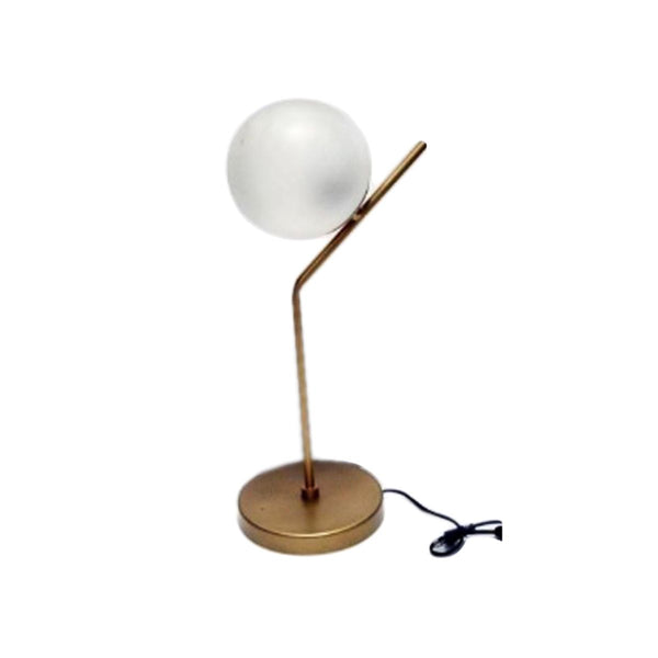 GLASS BALL TABLE LAMP GOLD