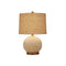 NATURAL SHELL BALL TABLE LAMP WITH METAL BASE