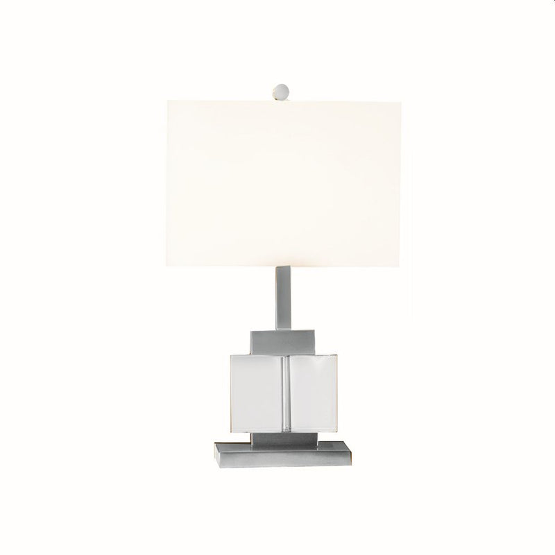 TABLE LAMP CRYSTAL CLEAR WITH BRUSH NICKEL METAL FINISH
