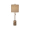 MARBLE AND METAL TABLE LAMP WITH PULL CHAIN SWITCH