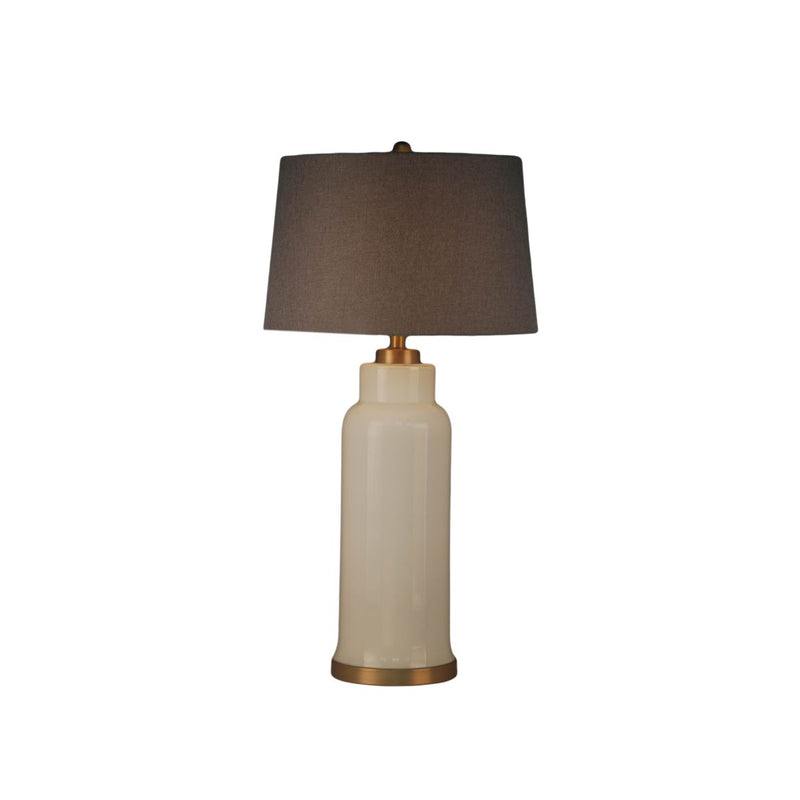 LONG GLALSS COLUME TABLE LAMP WITH METAL BASE. HAMMED TEXTURE ON SURFACE
