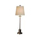 METAL WITH CRYSTAL ACCENT BUFFET LAMP. CHROME METAL WITH CRYSTAL CLEAR FINISH