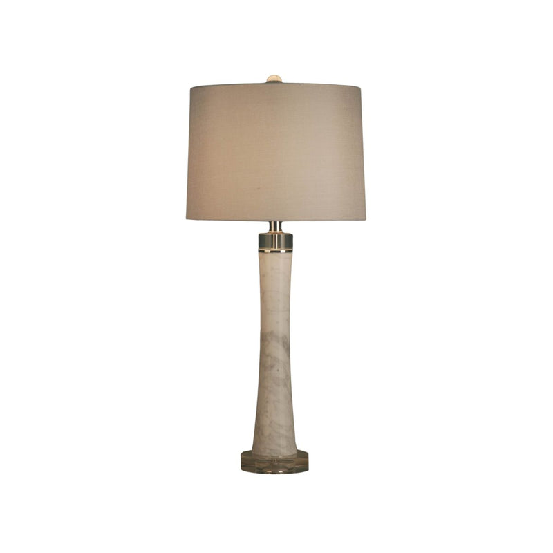 SOLID MARBLE TABLE LAMP WITH CRYSTAL BASE