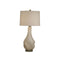 CERAMIC TABLE LAMP WITH CLEAR BASE