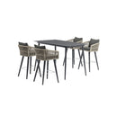 TABLE AND CHAIR(LULIN BAR 5PCS TABLE*1+BAR CHAIR*4 DARK GREY