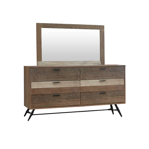 HAVANA DRESSER WITH  6 DRWS + MIRROR