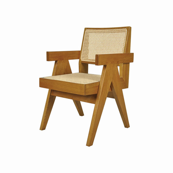 ARMCHAIR OAKWOOD RATTAN COLOR
