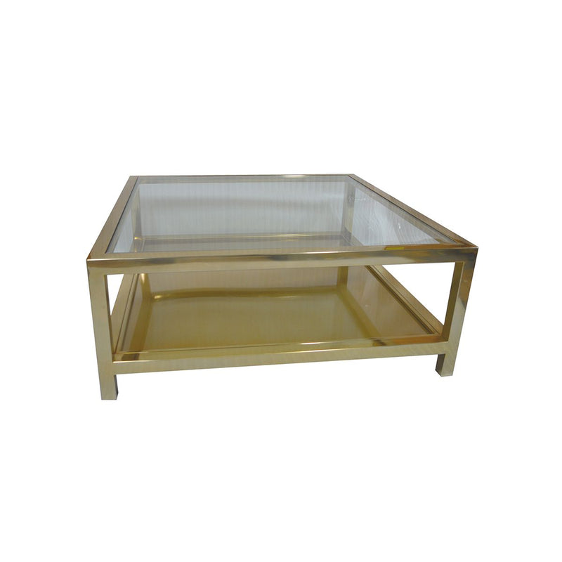 COFFEE TABLE W/CLEAR GLASS