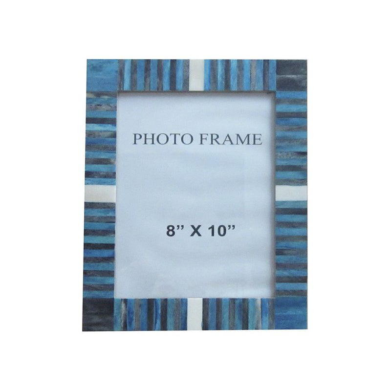 FRAME IN BLUE/GREY/WHITE STRIPES 8X10X1.5""