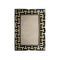 FRAME IN BLACK & WHITE MATTING TILES WITH METAL BORDER