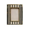 FRAME IN B&W STRIPES WITH BRASS MOULDING 4X6X1.5""
