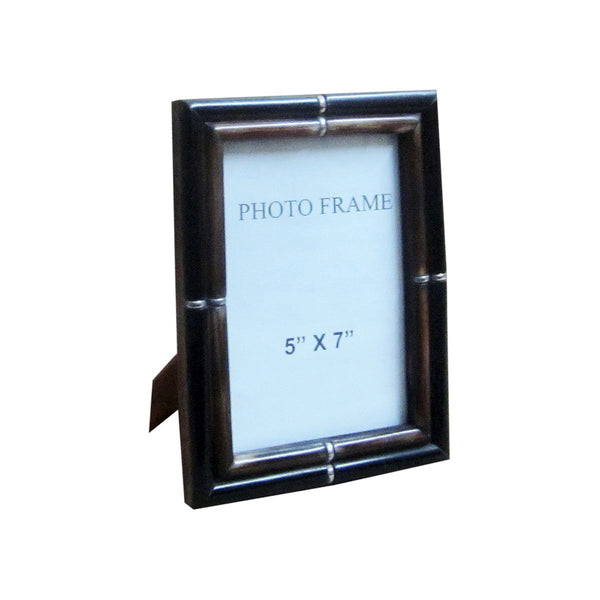 THIN BORDER FRAME BLACK OUTER BROWN INNER 5X7X1""