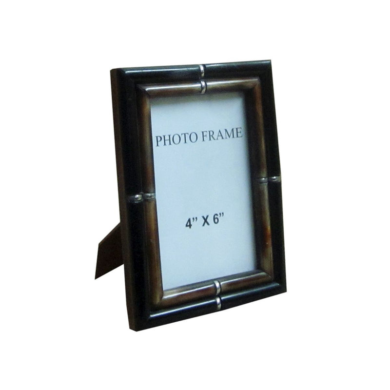 THIN BORDER FRAME BLACK OUTER BROWN INNER  PIPER 4X6X1""