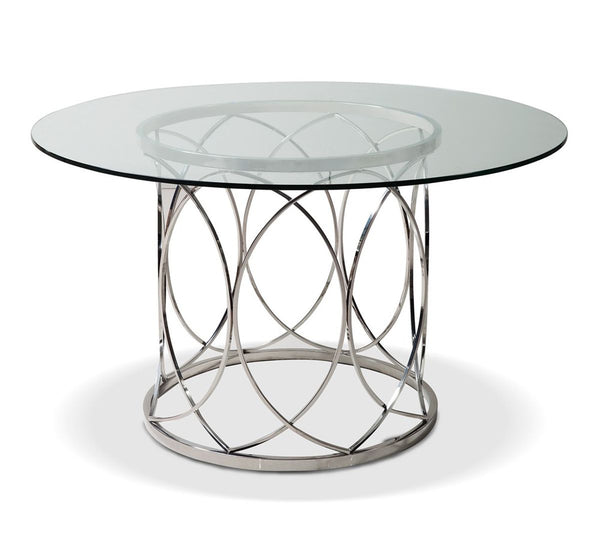 DINING TABLE 15MM CLEAR GLASS, HIGH POLISHED 201 STAINLESS STEEL