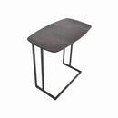 END TABLE ITALY CERAMIC TOP:KL 39, STEEL: LEADEN COLOR