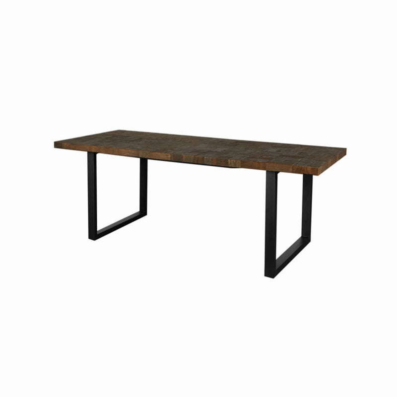 DINING TABLE NATURE RE01, METAL BLACK MT26