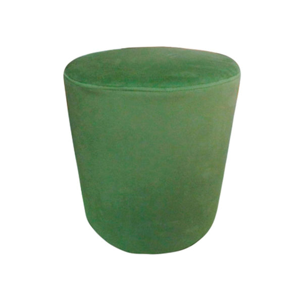 ROUND STOOL COLOR LM073-75 DARK GREEN VELVET FABRIC