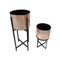 SET2 POT STAND COPPER TWO TONE FINISH MATT. BLACK LEGS