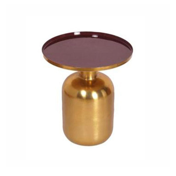 TABLE GOLD LEGS WITH ENEMAL TOP