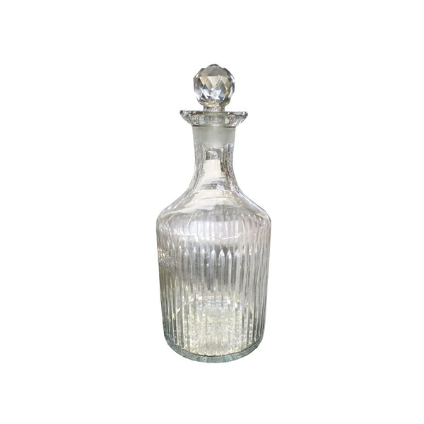 STRIPE CUT DECANTER