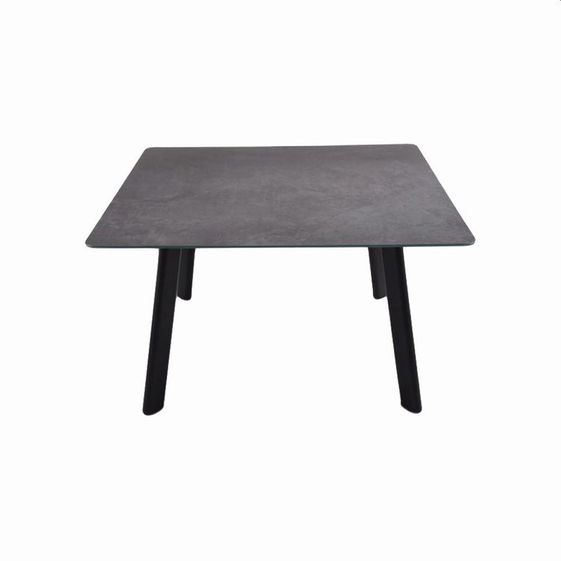 SQUARE SINING TABLE TOP: MJ 040, STEEL: BLACK COLOR SANDY