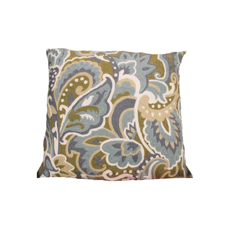 CHAINSTITCH EMBROIDERED CUSHION WITH FILLER 20X20