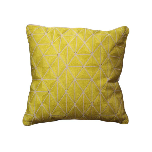 CREWEL EMBROIDERED CUSHION COVER 20X20