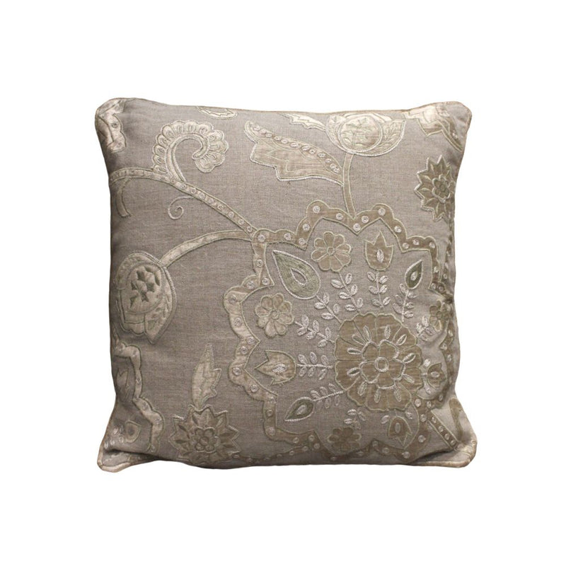 APPLIQUE CUSHION COVER WITH VACCUMISED FILLER