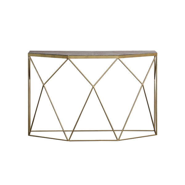 *****CONSOLE BRUSHED NATURAL + GOLD COPPER