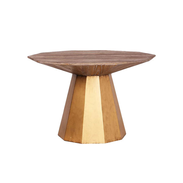 DINING TABLE NEW ELM+IRON   NATURAL COPPER