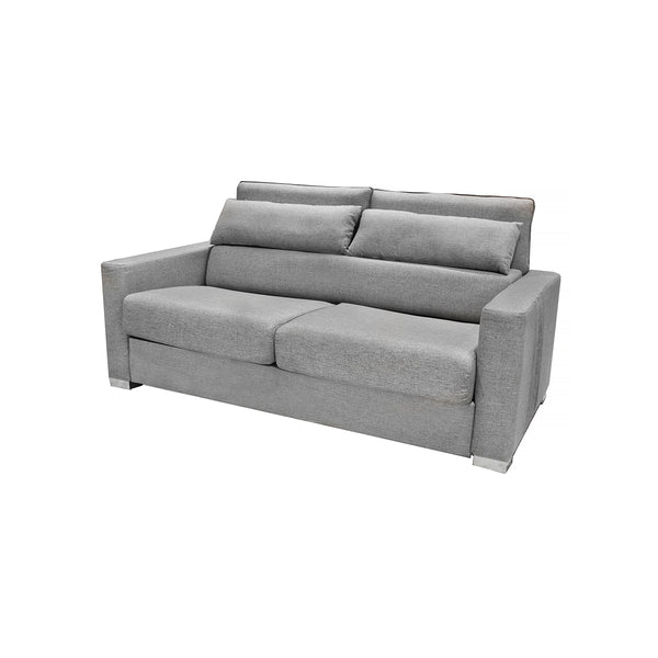 SOFA CAMA DE 3 PLAZAS EN TELA COLOR GRIS