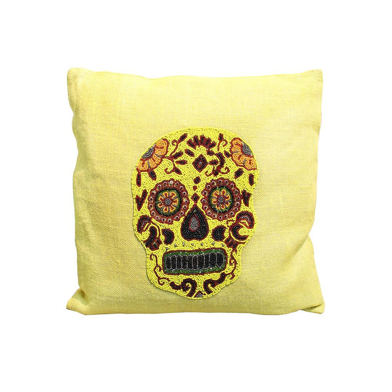 JUTE EMBROIDERED CUSHION COVER