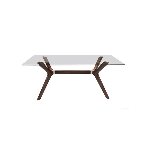 TABLE TOP WITH CLEAR GLASS, LEG COLOR HS362