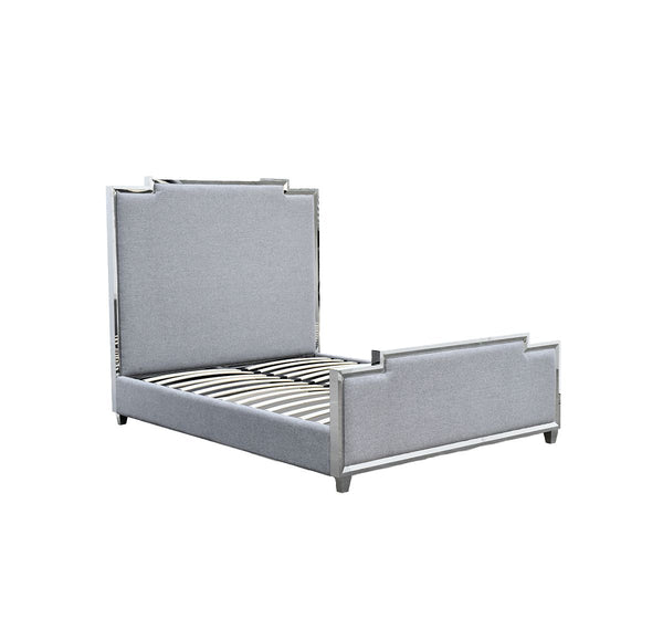 *****QUEEN BED GREY W1650XL2190XH14550