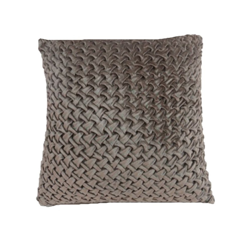 VISCOSE VELVET COUCHING EMBROIDERY WORK PILLOW