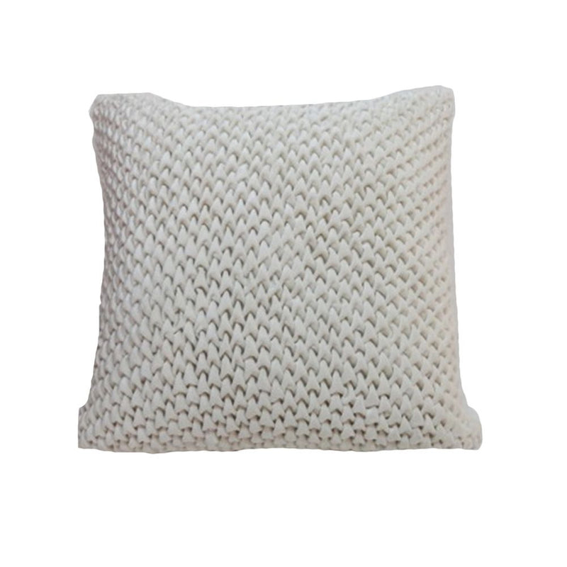 VISCOSE VELVET SMOCKING WORK PILLOW 45X45 BEIGE