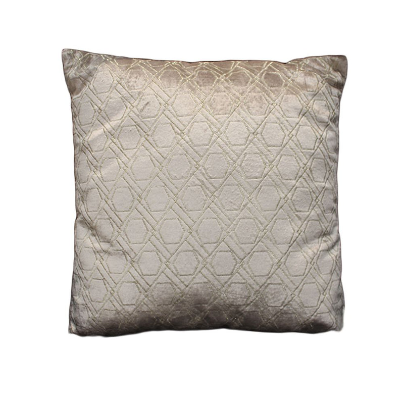 VISCOSE VELVET METALLIC EMBROIDERED CUSHION