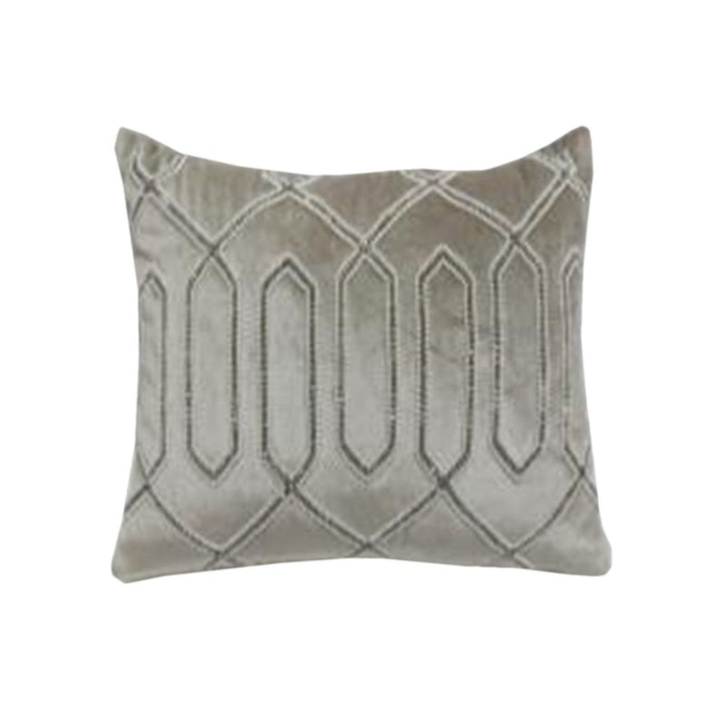 VISCOSE VELVET BEADED CUSHION
