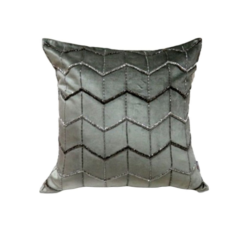 VISCOSE VELVET BEAD WORK CUSHION 50X50