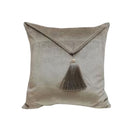 VISCOSE VELVET ENVALOPE CUSHION WITH TASSELS