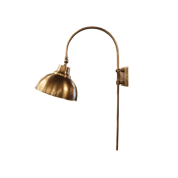 WALL LAMP ADJUSTABLE HEIGHT VINTAGE BRASS