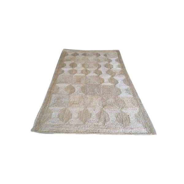 HAND STITCHED BRAIDED JUTE RUG
