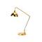 GOLDEN ACCENTED TASK LAMP
