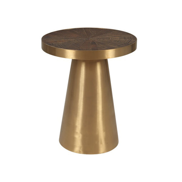 END TABLE SANDY BROWN CHAMPAGNE BRUSHED STEEL